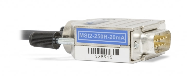 Additional analog input channel MSI2-250R-20mA